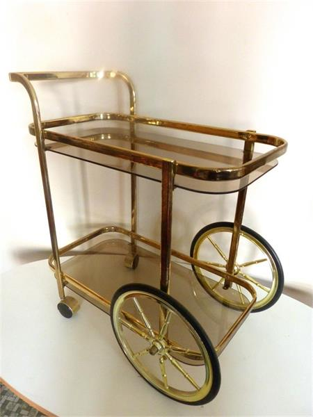 1940s Maison Jansen style French Bar cart or trolley - online antiques