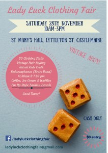 Lady Luck Clothing Fair @ St Mary's Hall | Castlemaine | Victoria | Australia