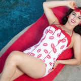 Bettie-Page-Clothing-Swim-Lip-Print-Red-Swimsuit-One-Piece