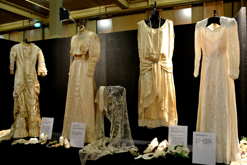 Part of the display from the Cavalcade of Fashion & History