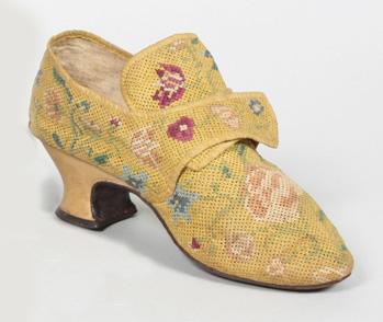 18th century, needlework shoe - image Eleanor Keene