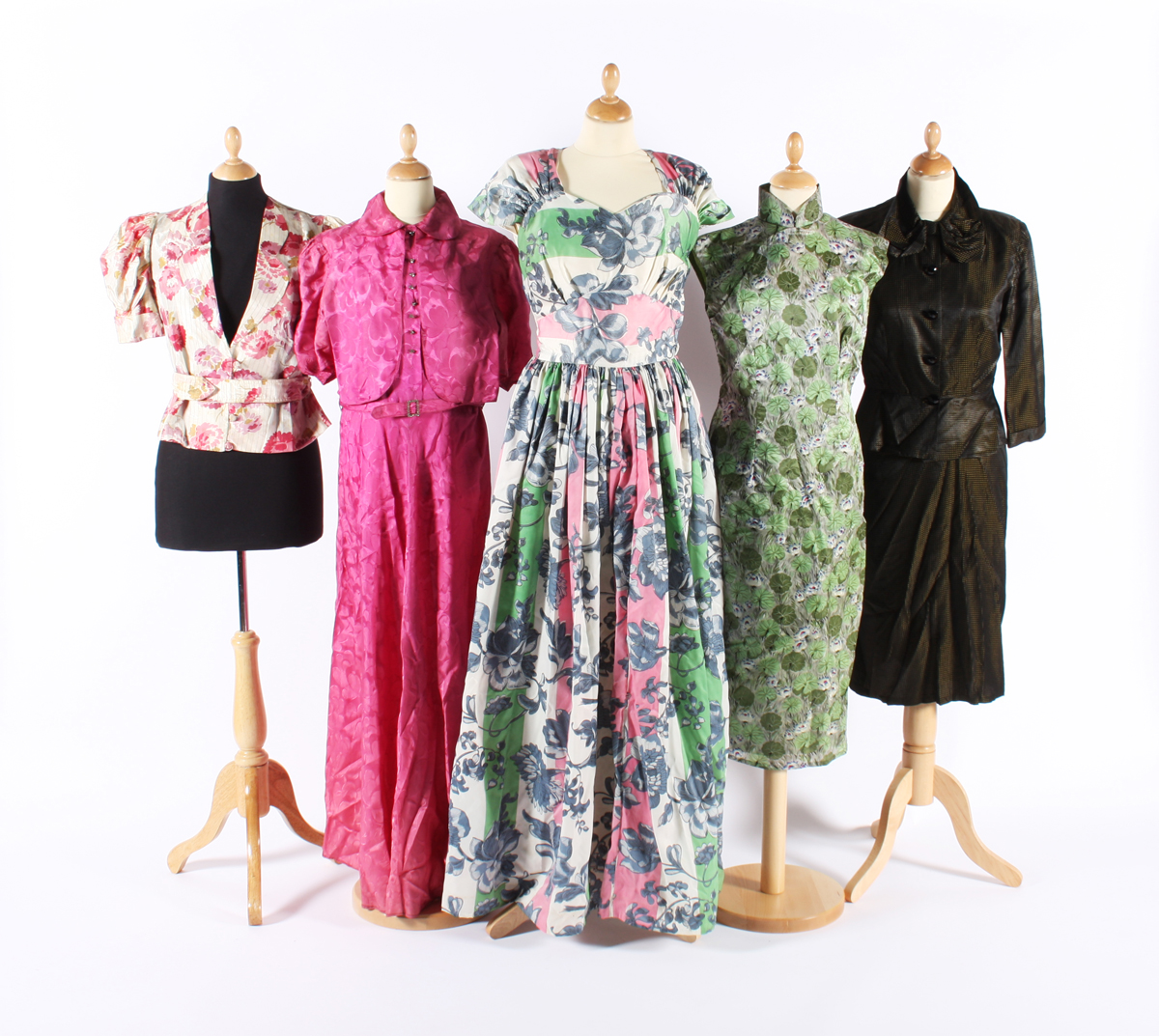 Group of 1940's dresses - image by Eleanor Keene
