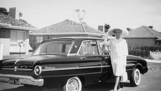 Margaret Wood, the first ever winner of Fashions on the Field in 1962 Source Victoria Racing Club