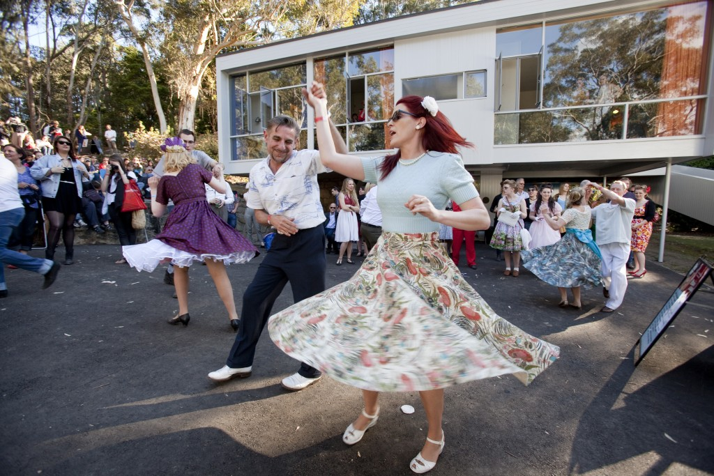 Couple dancing at Fifties Fair 2012 - swirl