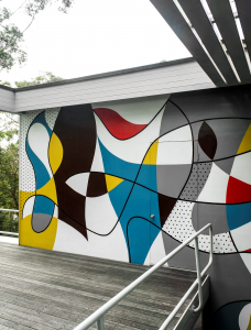 Rose Seidler House exterior mural Sydney Living Museums