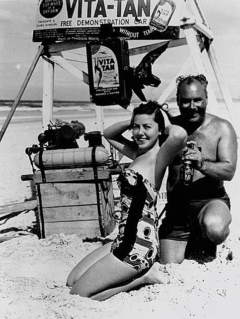 Gold Coast spray tanning  circa 1951