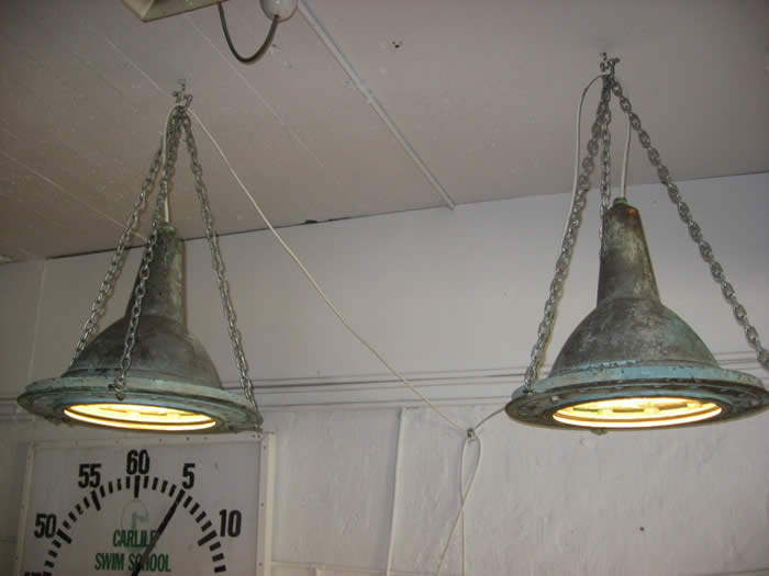 These great lights were originally in the warf at Newcastle.