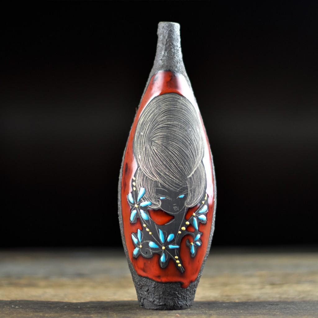 Century 'Titano' Fat Lava Vase by Augusto Giulianelli - Ostblock - european mid century