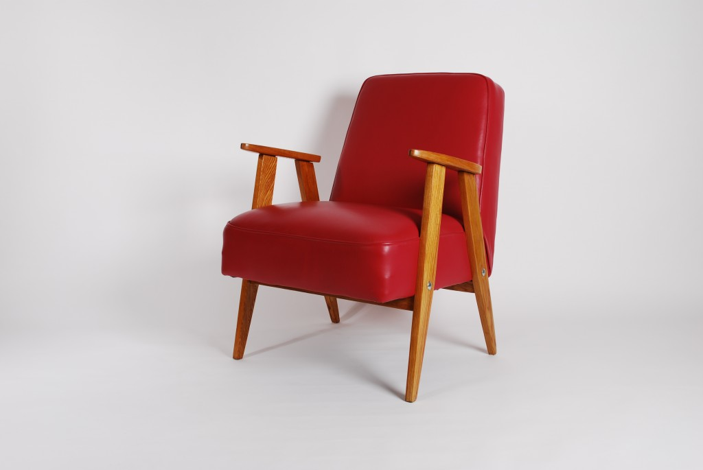 Model 366 Red Armchair by Jozef Marian Chierowski, 1965