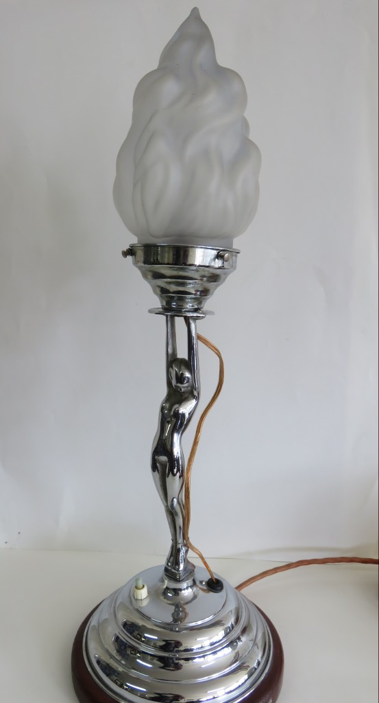 art deco lady lamp - Antiques To Retro